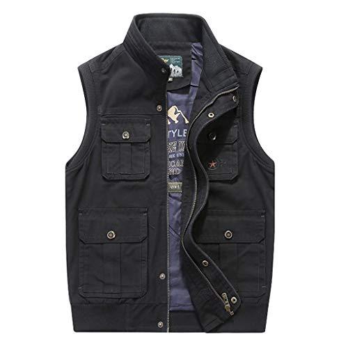 TY-Gilet jas van katoen, meerdere zakken, voor mannen, modieus, meerkleurig