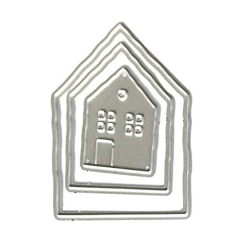 WuLi77 Häuser Metall Stanzschablone Die Stanzen Zum Basteln Von Karten, Prägeschablone Für Scrapbooking, DIY Album, Papier, Karten, Kunst, Dekoration
