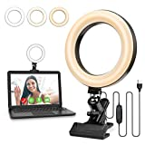 Czemo Aro de Luz 6''Anillo de luz TIK Tok Selfie LED con 3 Colores Regulables, 10 Niveles de Brillo y 360rotable, 360ºSoporte Ajustable Ring Light para Youtube Instagram Vlog Maquillaje Enseñanza