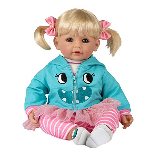Adora Toddler Doll Little Monster Doll with Monster Theme Outfit, Embroidered Monster Shoes and Tulle Trim Hoodie, Multicolor, 20 inches