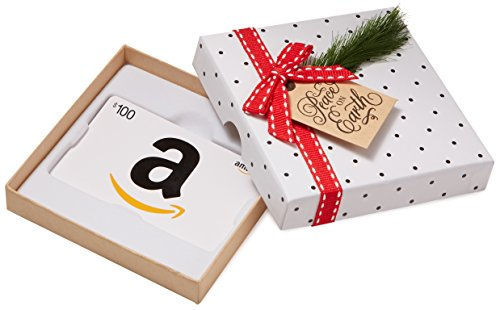 Amazon.com $100 Gift Card in a Holiday Sprig Box