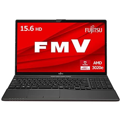 【公式】 富士通 ノートパソコン FMV LIFEBOOK AHシリーズ WAB/E3 (Windows 10 Home/15.6型ワイド液晶/AMD 3020e/4GBメモリ/約256GB SSD/スーパーマルチドライブ/Officeなし/ブライトブラック)FMVWE3AB11_AZ/富士通WEB MART専用モデル[9/22まで・台数限定]