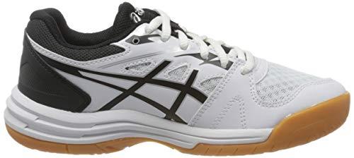 Asics UPCOURT 4 GS, Unisex Babies' Running Shoes, White/Black, 3.5 UK (37 EU)