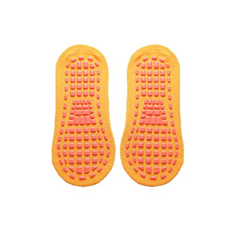 1 par de calcetines antideslizantes de agarre pegajoso, para hombres y mujeres, para el día a día, para entrenamiento, yoga, pilates y hospitales, calcetines (amarillo)