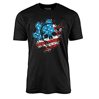 Gears American Flag Omen Tee  XXL  Black