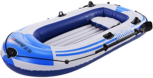 ZJB Inflatable Boat 3-Person Thickened Kayak Canoe 10FT Inflatable Raft Heavy Duty Rubber Boats Folding PVC Kayak for Adults Fishing...