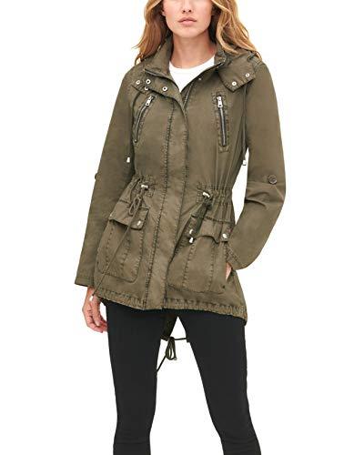 Levi's Women's Cotton Hooded Anorak Jacket (Standard & Plus Sizes), Olive, Large