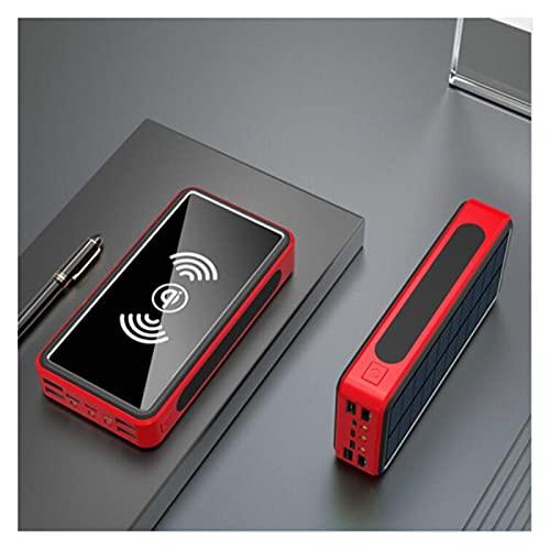 80000mAh Solar Powerbank Cargador rápido inalámbrico con gran capacidad de batería externa 80000mAh Poverbank (capacidad de la batería: 50001mAh-10000mAh, color: rojo)
