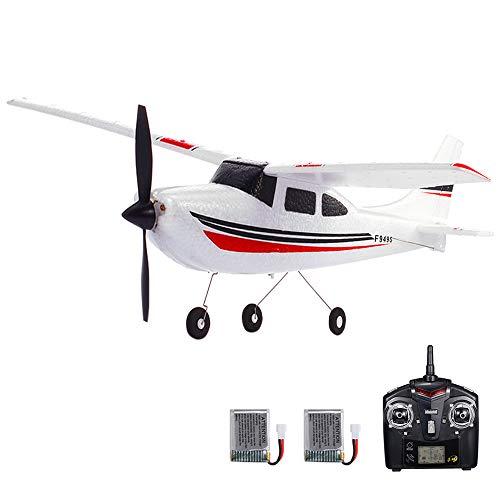 GoolRC F949S Avión RC Wltoys Aeronave Airplane 2.4G Plane RC Aeronave Aircraft 3CH Remote Control EPP Airplane Miniature Model Plane Juguete Interior al Aire Libre 2 Batteries