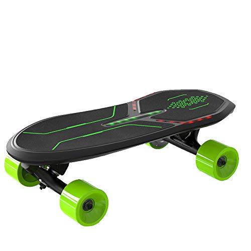 FGKING Tabla de Ruedas eléctrica, Mini patineta Longboard Cruiser diseñada para Principiantes...