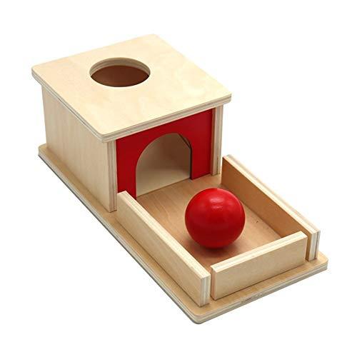 Dunflop Kreative Holzkugellernspielzeug Rechteckige Schubbox Kinder Ausbildung Frühe Bildung Spielzeug Lehrmaterialien Werkzeuge Geschenke for Kinder Baby Objekt (Size : B)