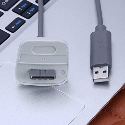 Nicoone Cable de carga USB para Xbox 360 inalámbrico, cable de carga rápido, controlador de juego inalámbrico, color blanco