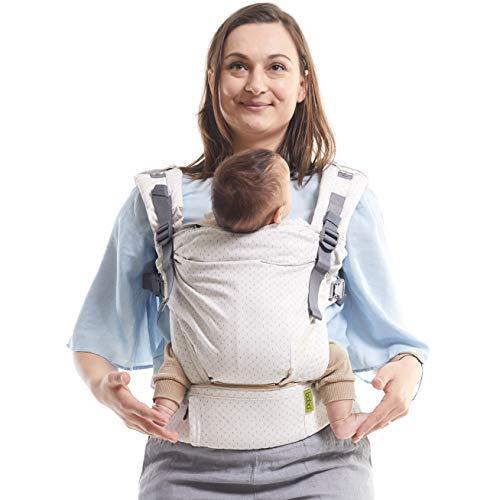 Fular Boba X Portabebés - Adaptable, Micro- Mochila de Estructura Suave y Ajustable para los Bebés de 7-45 lbs (Desert Ivory)