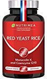 Red Yeast Rice & Coenzyme Q10 - Cholesterol Lowering Supplement - Highest Concentration of Monacolin K - 3 Month Treatment - No Statin Side Effects - Antioxidant Agent - French Expertise - Nutrimea