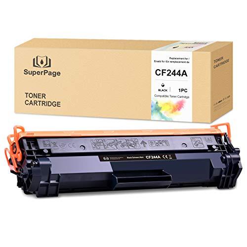 Superpage cartucce toner compatibili con HP CF244A 44A con stampanti HP Laserjet Pro M15a M15w M16 M17a M17w MFP M28a MFP M28w MFP 29 MFP M30a MFP M30w (nero, 1 confezioni)