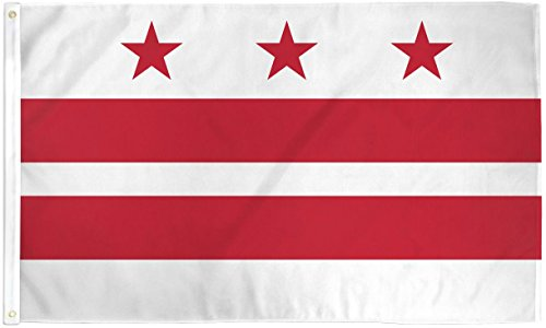 Home and Holiday Flags Washington DC Flag District of Columbia Banner 3x5 Pennant Indoor Outdoor New
