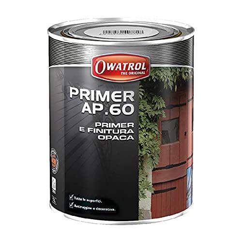 Owatrol Rustol Primer AP.60 - Primaire Mat antirouille 0,75 L, Rouge-Brun