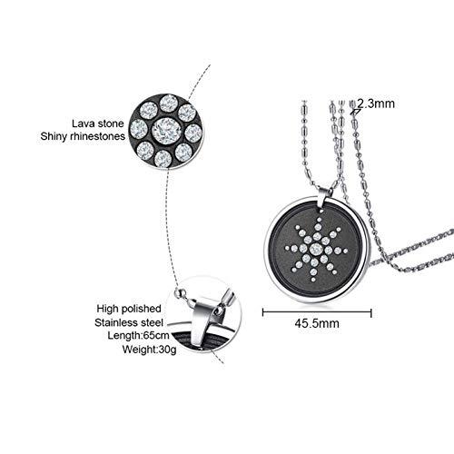 ERDING Ketting Sieraden/Scalar Quantum Energie Ionen Hanger voor Heren Ketting Lava Steen Kristallen RVS 25