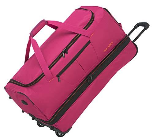 Travelite Basics Trolley Reisetasche auf Rollen 70cm, erweiterbar auf 119 Liter Volumen, in sechs Farben Reise-Henkeltasche, 70 cm, 98 Liter, Pink