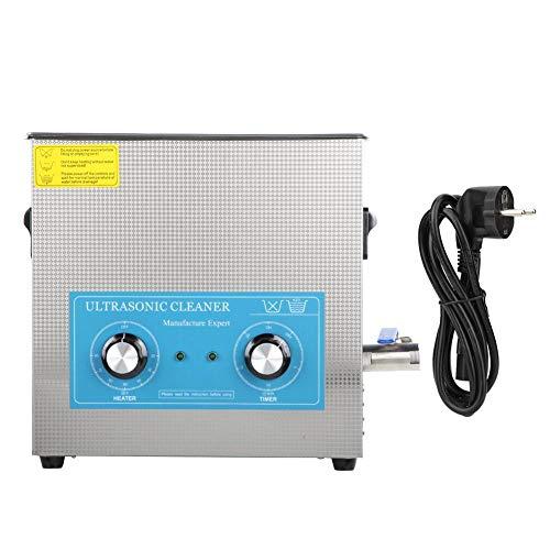 360HT ultrasone reinigingsmachine, ultrasone reiniger, mechanische tijdverwarmingsreiniger, voor het reinigen van glazen, kettingen, oorbellen, 6,5 l 0 ~ 20 min. EU Plug 200-240V