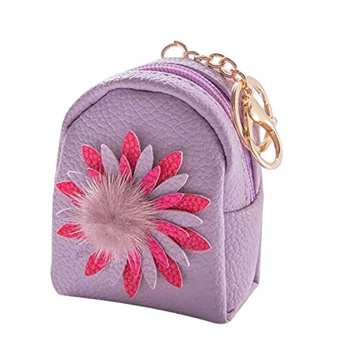 Lovemay Mini porte-monnaie à motif floral - Pour cosmétiques, pièces de monnaie et clés - 10 x 8 x 5 cm