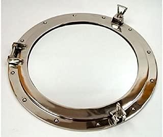 Aluminum Chrome Finish Porthole Mirror 24 Nautical Wall Decor by Go Nautical Decor