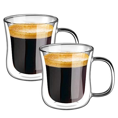 ecooe Verres à Tasses Espresso Thermo à Double Paroi 120ml Lot de 2