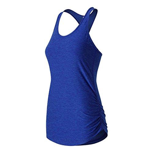 New Balance Women's Perfect Tank Top, Bluefin Heather, X-Large