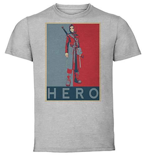 Instabuy T-Shirt Unisex - Grey Shirt - Propaganda - Dragon Quest XI Hero Variant