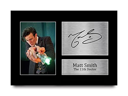 HWC Trading Matt Smith A4 Sin Marco Regalo De Visualización De Fotos De Impresión De Imagen Impresa Autógrafo Firmado por Dr Who Ventiladores De Programa De TV