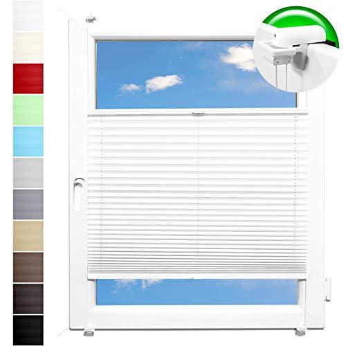 Pliseerollo Plissee Ohne Bohren plissiert Fensterrollo Klemmfix Faltrollo Jalousie Sonnenschutz Lichtdurchlassig 110x130 cm