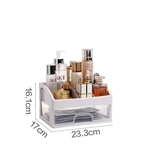 Contenedor de Joyas Estuche de Maquillaje Soporte para brochas de Maquillaje Organizadores Caja Organizador de Maquillaje Cajones Caja de Almacenamiento de cosméticos de plástico Estante - 1 Capa, S6