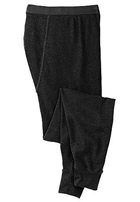 KingSize Men's Big & Tall Heavyweight Thermal Pants - Big - 4XL, Black