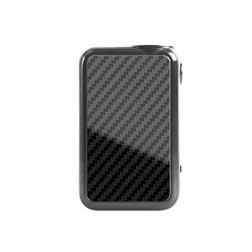 atFoliX Skin kompatibel mit Uwell Crown 4 Mod, Designfolie Sticker (FX-Carbon-Black), Carbon-Struktur/Carbon-Folie