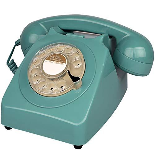 JNYTD TeléFono Retro Vintage CláSico TeléFono Rotativo TeléFono Antiguo con Cable TeléFono De Oficina En Casa Fijo TeléFono Fijo