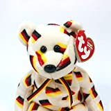 TY Beanie Baby - DEUTSCHLAND the Bear (w/ Black Nose)