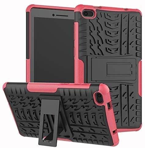 Cajas De Tabletas para Lenovo Tab E7 7.0 Pulgadas, Patrón De Hyun Pattern Armor Hybrid Armor STICKESTER 2 EN 1 Tapa a Prueba De Golpes, Modelo (Color : Pink)
