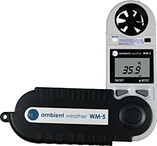 Ambient Weather WM-5 Handheld Weather Station w/Windspeed, Temperature, Humidity, Dew Point, Heat Index, Pressure & Altitude