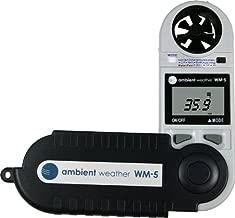 Ambient Weather WM-5 Handheld Weather Station w/Windspeed, Temperature, Humidity, Dew Point, Heat Index, Pressure & Altitude