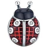 ZiFouDou Abalorio para Pulsera Pandora&Chamilia,Abalorio de Plata de Ley 925,Originales Bead Charm para Collare -Mariquita