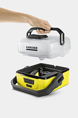 Kärcher Mobile Outdoor Cleaner OC 3 Bike Box (Wassertankvolumen: 4 l, Lithium-Ionen-Akku, abnehmbarer Wassertank, schonender Niederdruck, Universalbürste, Motorrad-/Fahrradreiniger, Mikrofasertuch) - 2