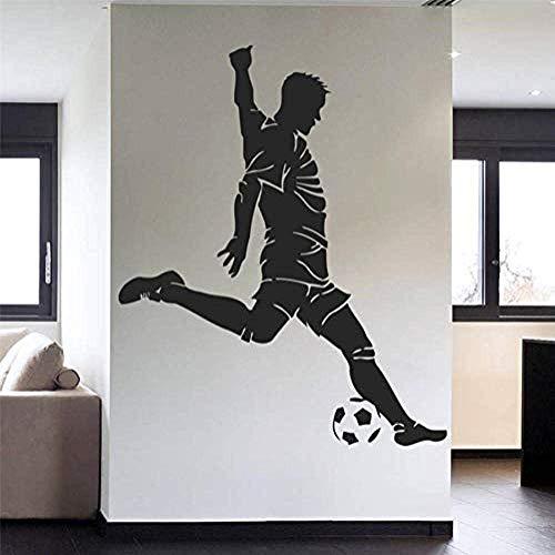 Muursticker voetbal sport team spel kinderen slaapkamer huisdecoratie modern design levende muurstickers muur sticker 58 X 70 cm