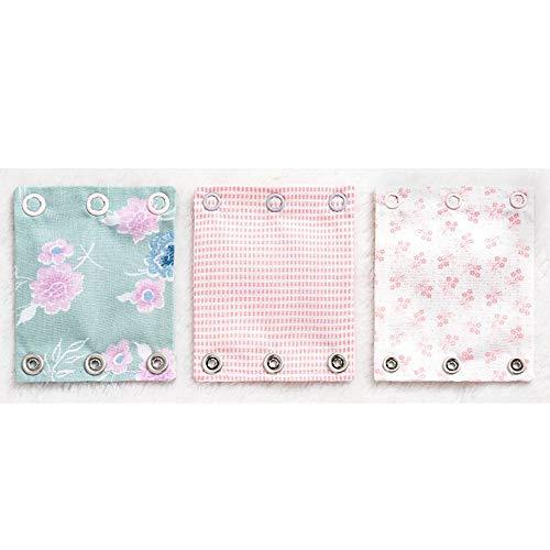 Milchmädchen Bodyerweiterung 3er Set Bodyverlängerung Farbe Blumen (Rosa)
