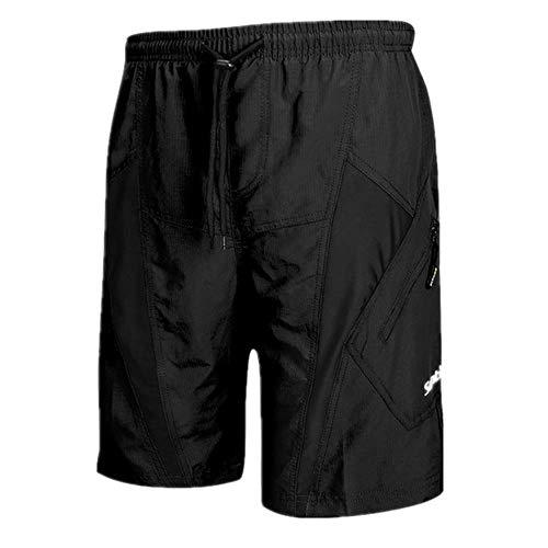 Pantalones cortos de bicicleta de montaña para hombre ciclismo MTB impermeable parte inferior suelta - negro - Medium
