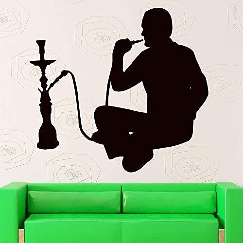 Muursticker van papier voor woonkamer, rook, shisha voor wand, koffie, Arabisch, shisha