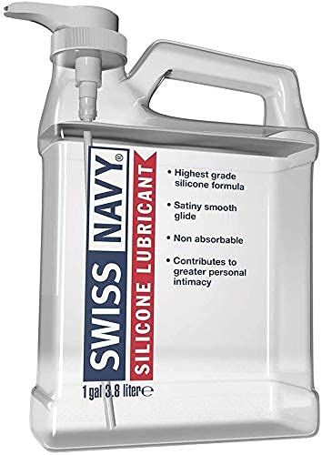 Swiss Navy Premium Silicone-Based Personal Lubricant & Lubricant Sex Gel For Couples, 1 Gallon