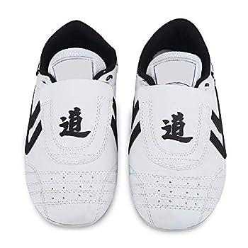 Dilwe Taekwondo Shoes Kung Fu Taekwondo Indoor Mat Training Shoes 10 Sizes Soft Rubber Soles Martial Arts Sneaker for Women Men Kong Fu Taichi  35