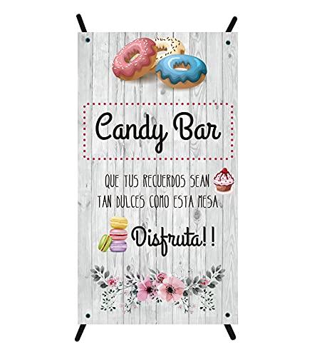 Cartel Candy bar | cartel para bodas | cartel decorativo mesa dulce | cartel mesa dulce comunión | cartel bautizo | cartel boda | cartel comunión