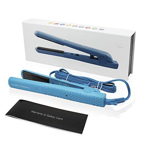 Herstyler Colorful Seasons Ceramic Hair Straightener, Dual Voltage, 1.25 Inch Blue