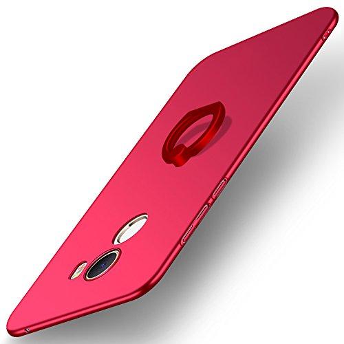 Funda® Fermezza Smartphone Custodie con Anello per Xiaomi Mi MIX 2(Rosso)